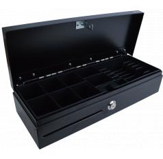 Pokladní zásuvka Flip-top FT-460C - s kabelem, se zamykacím krytem, černá