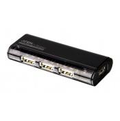 USB 2.0 HUB, 4-portový, bez napájení, magnetický, černý