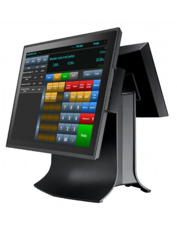 "Dotykový terminál TP-8515 15"" CAP, J1900 2,0GHz, 2 GB RAM, 64 GB SSD, černá + 9,7"" LCD, Windows 10"